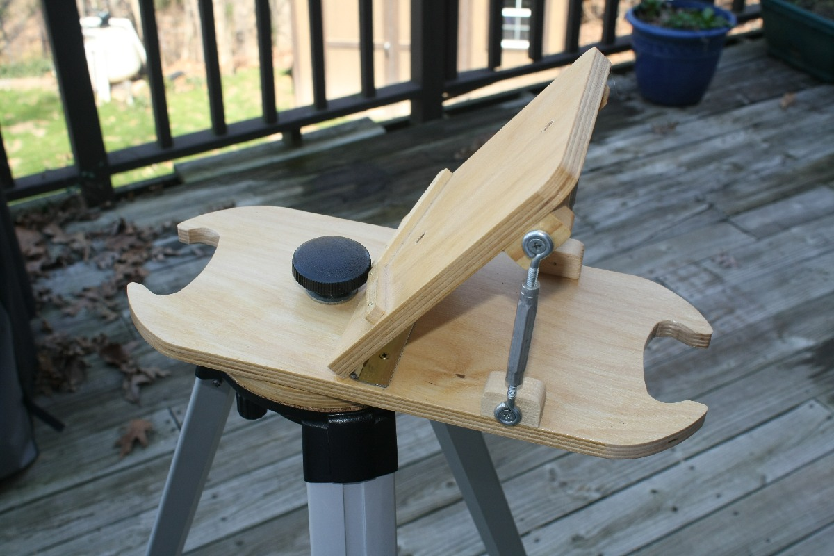 Easy-build Adjustable Equatorial Wedge for ETX